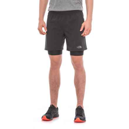 "The North Face NSR Dual Running Shorts - 7"" (For Men) in Tnf Black/Tnf Black - Closeouts"