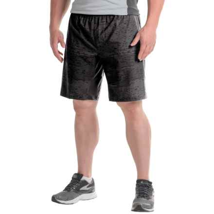 The North Face NSR Dual Shorts - Built-In Brief (For Men) in Tnf Black Digi Print/Asphalt Grey - Closeouts