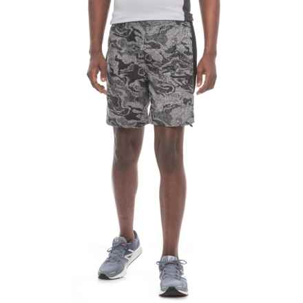 The North Face NSR Shorts - Built-In Briefs (For Men) in Asphalt Grey Reflective Print - Closeouts