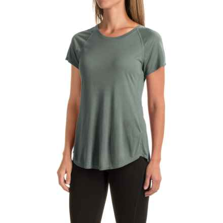 The North Face Nueva T-Shirt - Short Sleeve (For Women) in Balsam Green - Closeouts