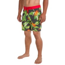 The North Face Olas Boardshorts - UPF 50 (For Men) in Graphite Grey/Tnf Red - Closeouts