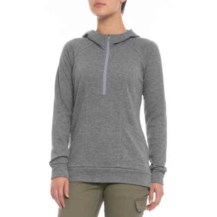 90854e7691 The North Face Om Hoodie - Zip Neck (For Women) in Tnf Medium Grey