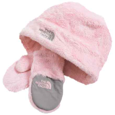 The North Face Oso Cute Knit Beanie and Mittens Set (For Infants) in Coy Pink - Closeouts