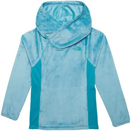 The North Face Oso Fleece Hooded Pullover Shirt - Long Sleeve (For Big Girls) in Nimbus Blue - Closeouts