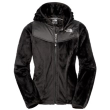 The North Face Oso Fleece Hoodie - Full Zip (For Little and Big Girls) in Black/Metallic Silver - Closeouts