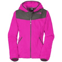 The North Face Oso Fleece Hoodie - Full Zip (For Little and Big Girls) in Luminous Pink - Closeouts