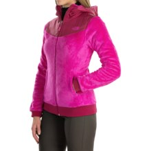 The North Face Oso Fleece Hoodie - Full Zip (For Women) in Luminous Pink/Dramatc Plum - Closeouts