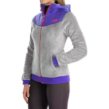 The North Face Oso Fleece Hoodie - Full Zip (For Women) in Mid Grey/Starry Purple - Closeouts