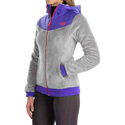 The North Face Oso Fleece Jacket (For Women) in Mid Grey/Starry Purple - Closeouts