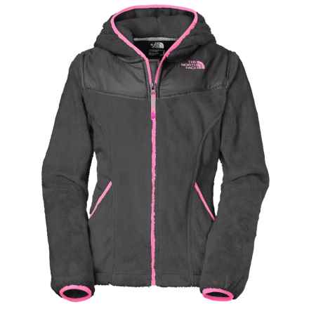 The North Face Oso Fleece Jacket - Full Zip (For Little and Big Girls) in Graphite Grey - Closeouts