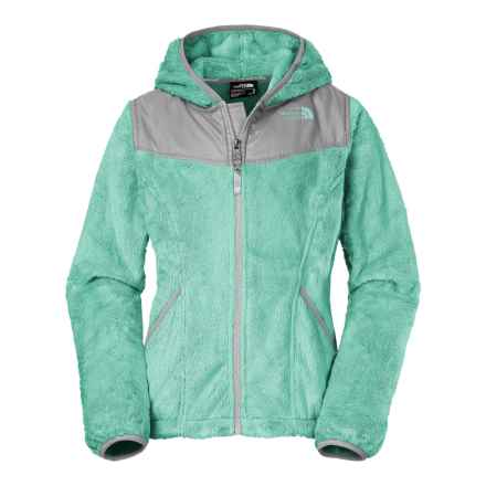 The North Face Oso Fleece Jacket - Full Zip (For Little and Big Girls) in Ice Green - Closeouts
