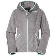 The North Face Oso Fleece Jacket - Full Zip (For Little and Big Girls) in Metallic Silver - Closeouts