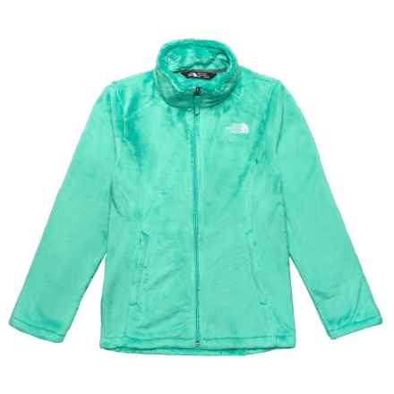 The North Face Osolita Fleece Jacket (For Big Girls) in Bermuda Green - Closeouts