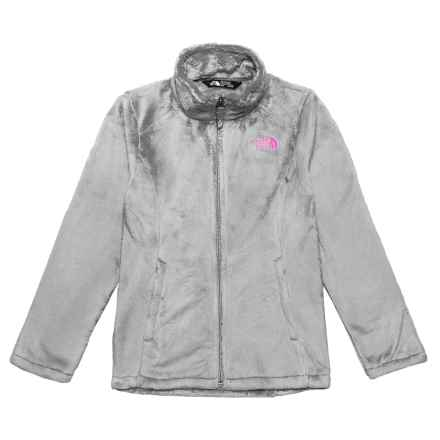 The North Face Osolita Fleece Jacket (For Big Girls) in Metallic Silver - Closeouts