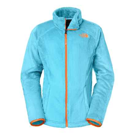 The North Face Osolita Fleece Jacket (For Little and Big Girls) in Fortuna Blue/Shocking Orange - Closeouts