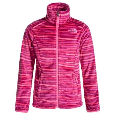 The North Face Osolita Fleece Jacket (For Little and Big Girls) in Roxbury Pink Wavy Stripe - Closeouts