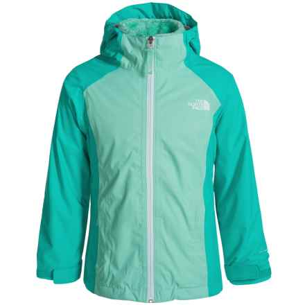 The North Face Osolita Triclimate® Jacket - Waterproof, 3-in-1 (For Little and Big Girls) in Ice Green - Closeouts