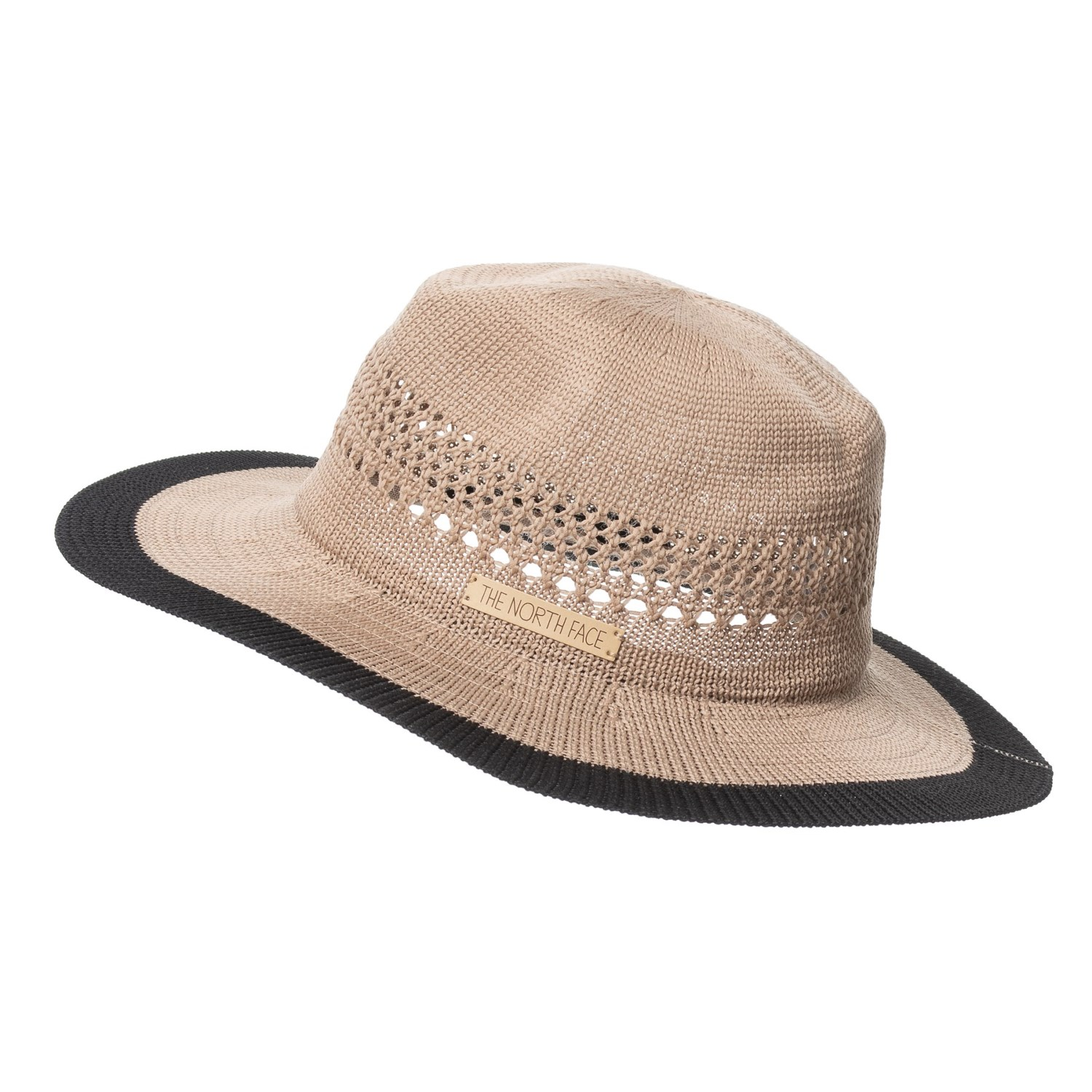 b75bfbd44bf The North Face Packable Panama Hat (For Women) in Kelp Tan Tnf Black ...