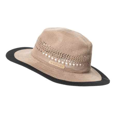 The North Face Packable Panama Hat (For Women) in Kelp Tan/Tnf Black - Closeouts