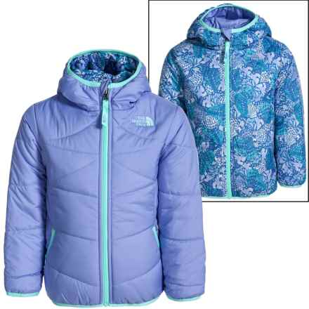 The North Face Perrito Hooded Jacket - Reversible (For Toddlers) in Grapemist Blue - Closeouts