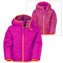 The North Face Perrito Hooded Jacket - Reversible (For Toddlers) in Luminous Pink - Closeouts