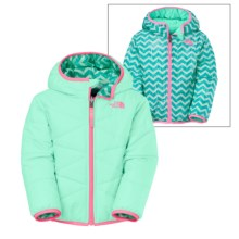 The North Face Perrito Hooded Jacket - Reversible (For Toddlers) in Surf Green - Closeouts