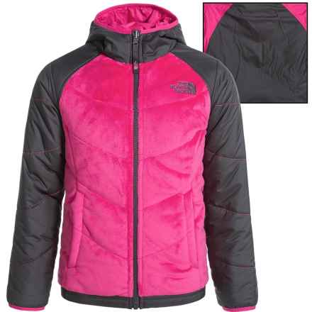 The North Face Perseus Reversible Jacket - Insulated (For Little and Big Girls) in Cabaret Pink - Closeouts