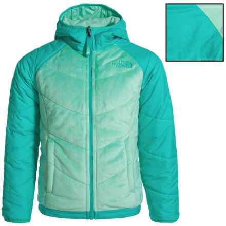 The North Face Perseus Reversible Jacket - Insulated (For Little and Big Girls) in Ice Green - Closeouts