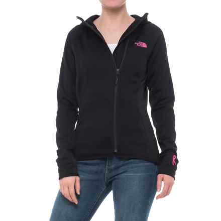 The North Face Pink Ribbon Arcata Hoodie (For Women) in Tnf Black/Meadow Pink - Closeouts