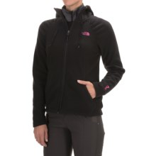 The North Face Pink Ribbon Mezzaluna Hoodie - Full Zip (For Women) in Tnf Black - Closeouts