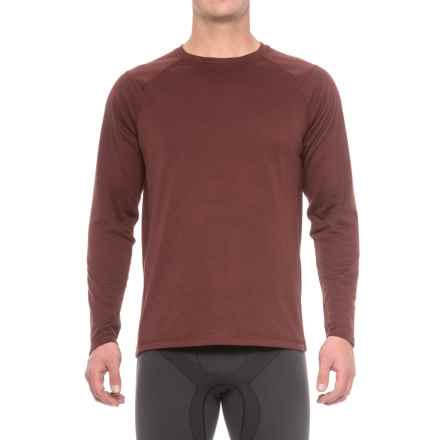 The North Face Plaited Crag Shirt - Crew Neck, Long Sleeve (For Men) in Sequoia Red Heather - Closeouts