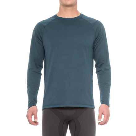 The North Face Plaited Crag Shirt - Crew Neck, Long Sleeve (For Men) in Shady Blue Heather - Closeouts