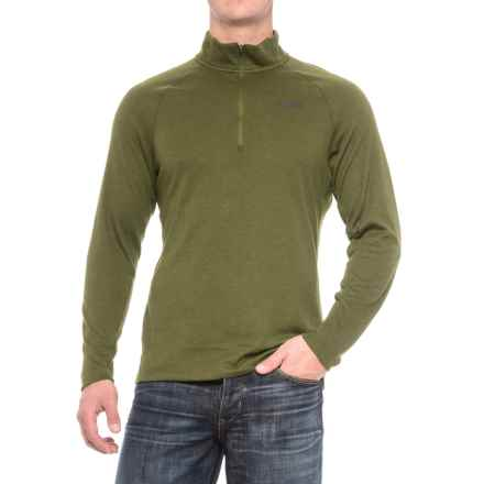 The North Face Plaited Crag Shirt - Zip Neck, Long Sleeve (For Men) in Burnt Olive Green Heather - Closeouts