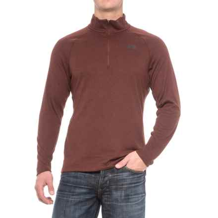 The North Face Plaited Crag Shirt - Zip Neck, Long Sleeve (For Men) in Sequoia Red Heather - Closeouts