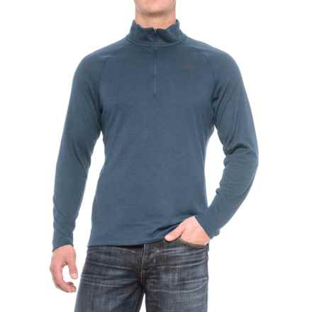 The North Face Plaited Crag Shirt - Zip Neck, Long Sleeve (For Men) in Shady Blue Heather - Closeouts
