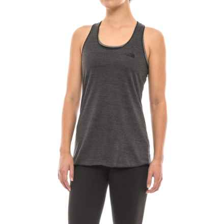 The North Face Play Hard Tank Top - Racerback (For Women) in Tnf Dark Gray Heather - Closeouts