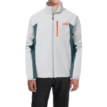 The North Face Pneumatic Soft Shell Jacket (For Men) in High Rise Grey/Conquer Blue - Closeouts