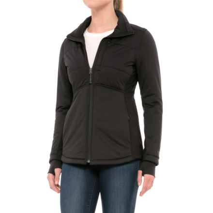 The North Face Pseudio Long Jacket - Insulated (For Women) in Tnf Black - Closeouts