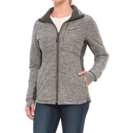 The North Face Pseudio Long Jacket - Insulated (For Women) in Tnf Dark Grey Heather - Closeouts