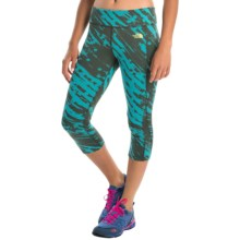 The North Face Pulse Capris (For Women) in Bluebird Paintball Print - Closeouts