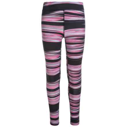The North Face Pulse Leggings (For Little and Big Girls) in Tnf Black Fast Stripe - Closeouts