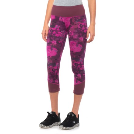 6b2f257cbdc The North Face Pulse Mid Rise Crop Tights (For Women) in Wild Aster Purple