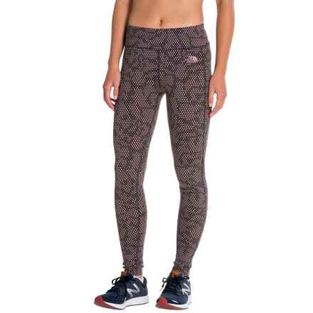 The North Face Pulse Tights (For Women) in Asphalt Grey Opti Dot Print - Closeouts