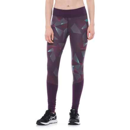 The North Face Pulse Tights (For Women) in Dark Eggplant Purple Space Geo Print - Closeouts