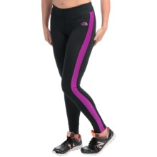 The North Face Pulse Tights (For Women) in Tnf Black/Magic Magenta - Closeouts
