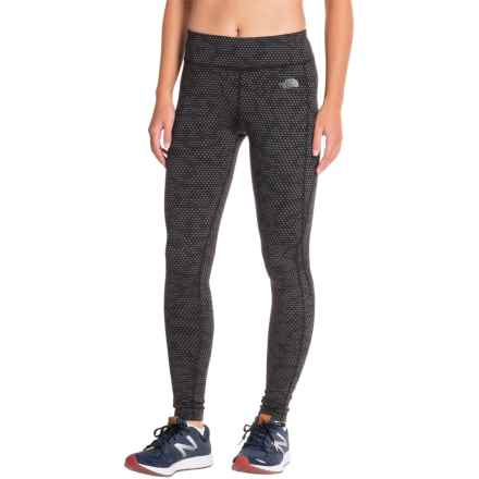 The North Face Pulse Tights (For Women) in Tnf Black Opti Dot Print - Closeouts