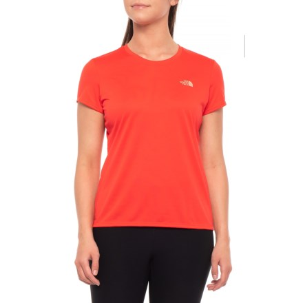 07cd0992 The North Face Raxion Amp Crew Shirt - Short Sleeve (For Women) in Juicy
