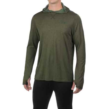 The North Face Reactor Hooded Shirt - Long Sleeve (For Men) in Climbing Ivy Green Heather - Closeouts