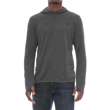 The North Face Reactor Hooded Shirt - Long Sleeve (For Men) in Tnf Dark Grey Heather/Tnf Black - Closeouts
