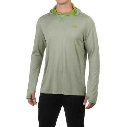 The North Face Reactor Hooded Shirt - Long Sleeve (For Men) in Wrought Iron Heather - Closeouts